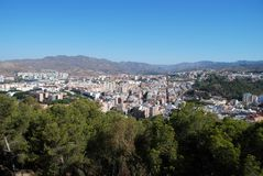 City view, Malaga, Spain. Royalty Free Stock Photo