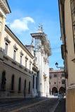 City view of Mantua, Italy. August 2, 2016, Mantua, Lombardy, Italy. Mantua Cathedral Duomo di Mantova. Popular touristic european destination. Mantua city view Royalty Free Stock Photo