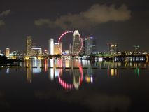 City View from Marina Barrage. Nice city view with light reflection from Marina Barrage stock images