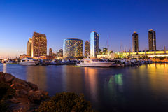 City View with Marina Bay at San Diego, California Royalty Free Stock Images