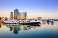 City View with Marina Bay at San Diego, California Stock Image