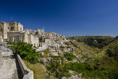 City view of matera Stock Photos