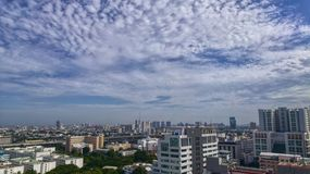 City view in my office from 16 floor ,Bangkok Thailand. Royalty Free Stock Photography