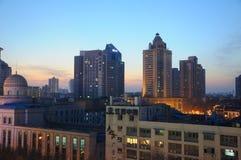 City view of Nanjing at Night Stock Image