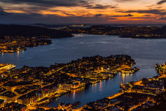 City view at night from above Royalty Free Stock Image