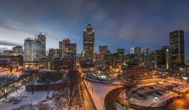 City View during Night Timne Royalty Free Stock Photo