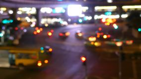 City view at night traffic lights. stock footage