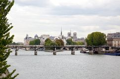 The city view and Notre Dame de Paris Royalty Free Stock Images