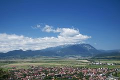City view. The old city of Rasnov seen from Rasnov fortress Stock Photography