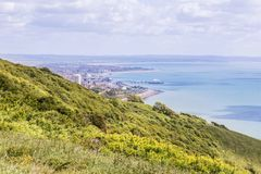 City view panoram of Eastbourne, United KIngdom. View on Eastbourne form the white cliffs, Sussex, United Kingdom Stock Images