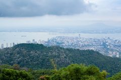 City view from Penang hill Royalty Free Stock Image