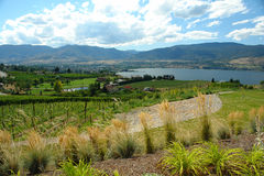City View Of Penticton British Columbia. Mountain top view of the BC Okanagan city Penticton Royalty Free Stock Image