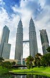 View of Petronas Twin Towers in Kuala Lumpur Royalty Free Stock Image