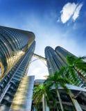 View of Petronas Twin Towers in Kuala Lumpur Stock Image