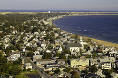 City view Provence town Cape Cod Royalty Free Stock Images
