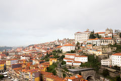City view from the railway bridge. Porto, Portugal Royalty Free Stock Image