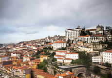 City view from the railway bridge. Porto, Portugal Royalty Free Stock Photo