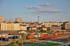 City view railway station Stock Photo