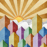 City View recycled papercraft background Royalty Free Stock Photos