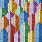 City View recycled papercraft background Royalty Free Stock Photography