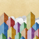 City View recycled papercraft background Stock Image