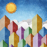 City View recycled papercraft background Stock Photography