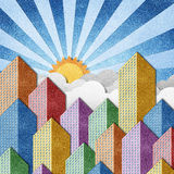 City View recycled papercraft background Royalty Free Stock Image