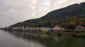 City view with river neckar in Heidelberg, Baden, Germany. Embankemnt of Neckar river in Heidelberg Baden-Wurttemberg in Germany Royalty Free Stock Photo