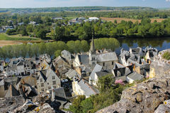 City view and river Vienne. Chinon. France Stock Photography