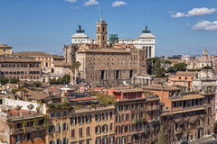 City view of Rome in Italy. Royalty Free Stock Photos