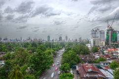 The city view. It's the city of Bangkok, Thailand Royalty Free Stock Photos