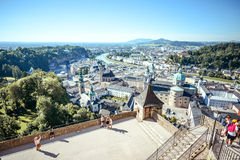 City view of Salzburg, Austria in a bright summer day Royalty Free Stock Image