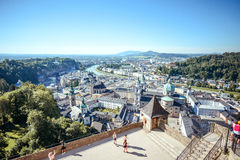 City view of Salzburg , Austria in a bright summer day Stock Images