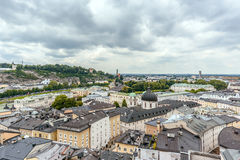 City view of Salzburg Austria in a cloudy weather Stock Photos