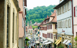 City view of Schwaebisch Hall Germany Royalty Free Stock Images