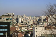 City View of Seoul Korea Royalty Free Stock Photography