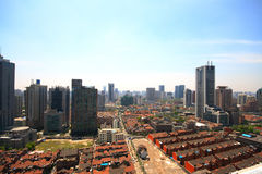 City view of Shanghai. With modern buildings and historic buildings Royalty Free Stock Image