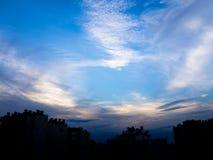 City view sky Royalty Free Stock Photos