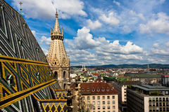 City view from St. Stephan cathedral Royalty Free Stock Image