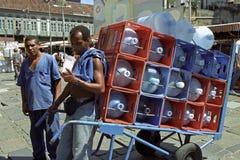City view, street life, metropolis Rio de Janeiro Royalty Free Stock Photo