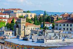 City view in sunny day in Trieste, Italy Stock Photos