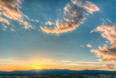 City view with a sunset Royalty Free Stock Photography