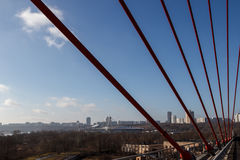 The city view from the suspension bridge Royalty Free Stock Photography