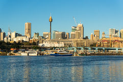 City view with Sydney fish market Stock Image