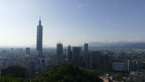City view of Taipei at sunset, Taiwan. The City view of Taipei at sunset, Taiwan stock video