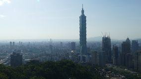 City view of Taipei at sunset, Taiwan stock video