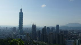 City view of Taipei at sunset, Taiwan stock footage