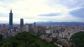 City of Taipei, Taiwan. City view of Taipei, Taiwan stock video footage