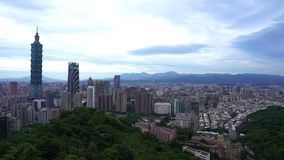 City of Taipei, Taiwan. City view of Taipei, Taiwan stock video