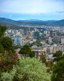 City View of Tbilisi. View of Tbilisi city from the hills. A city surrounded by mountains and forrest Royalty Free Stock Photography
